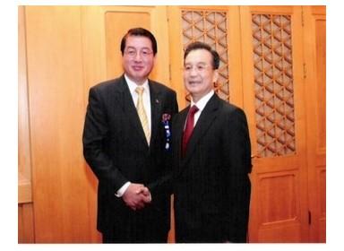 이영주 박사와 중국 원자바오 총리